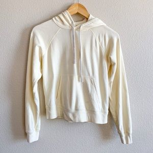 Everlane Pale Yellow Cropped Hoodie XS